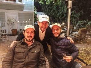 Andy Erickson, Patrick, and Joaquin from Arietta Wines