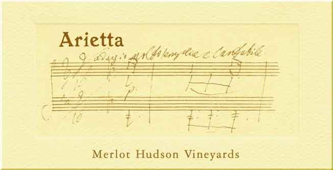 Arietta Merlot Hudson Vineyards 2006 Label