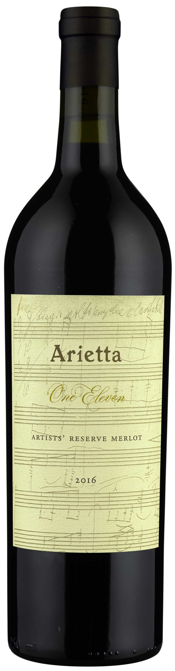 "Arietta ""One Eleven"" Artists' Reserve Merlot 2016 bottle shot"