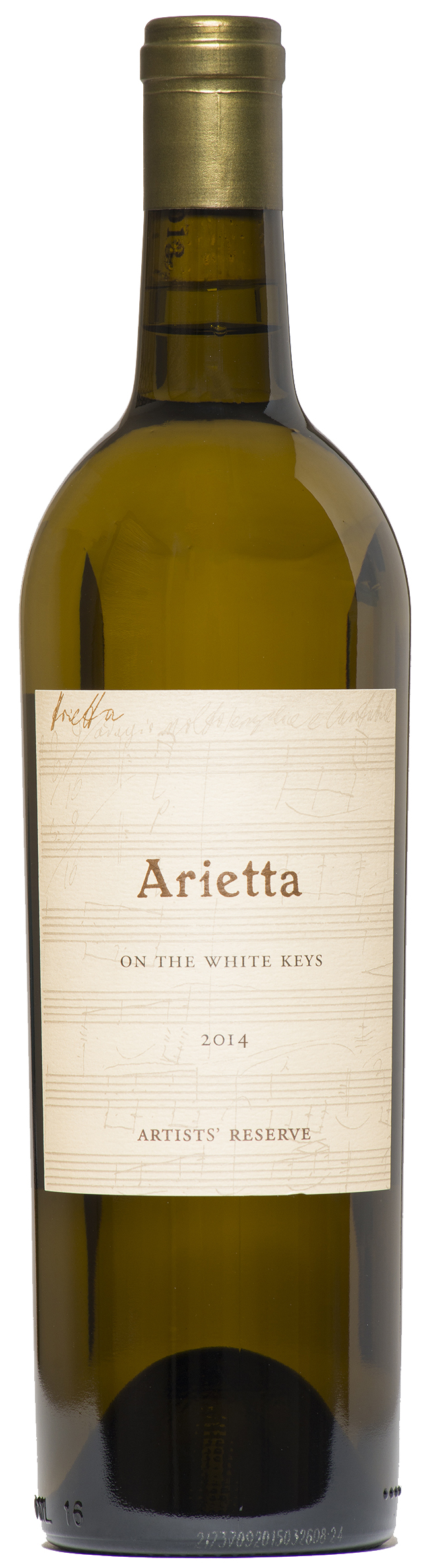 Arietta White Wine On the White Keys Artists Reserve 2014